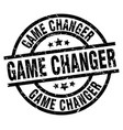game changer round grunge black stamp vector image vector image