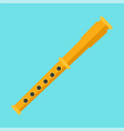 gold flute icon flat style vector image