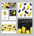 golden glitter gift greeting cards templates vector image vector image