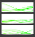 green fresh spring web header footer templates vector image vector image