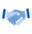 handshake of business partners vector image