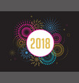 happy new year banner poster with fireworks vector image vector image