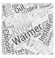 How to Choose Bathroom Warmers Word Cloud Concept vector image vector image