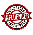 influencer label or sticker vector image vector image