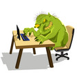 internet troll vector image vector image