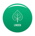 linden leaf icon green vector image