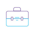 line elegant briefcase to save business documents vector image vector image