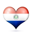 Paraguay Heart flag icon vector image vector image