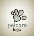 pet care logo 11 vector image vector image
