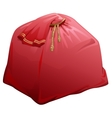 Red full bag with gifts of Santa Claus