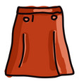 red skirt on white background vector image vector image