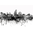 San Jose skyline in black watercolor on white vector image vector image