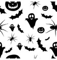seamless pattern helloween vector image