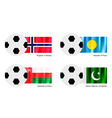 Soccer Ball with Aland Albania Alderney Flag vector image vector image