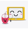 tablet icon Kawaii and technology graphic vector image vector image