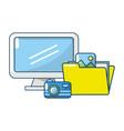 technology digital folders documents vector image vector image