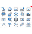 thin glyph icons set search engine optimization vector image vector image
