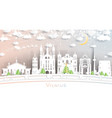 vilnius lithuania city skyline in paper cut style vector image vector image