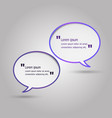 violet speech bubbles on gray background vector image vector image