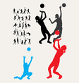 Volleyball Silhouettes vector image
