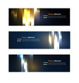 website header or banner set abstract vector image