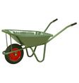wheelbarrow vector image vector image