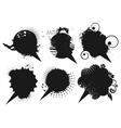 grunge speech bubbles vector image