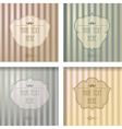 Vintage frame collection on a striped background vector image