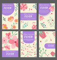 collection of flyers templates with floral vector image