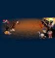 halloween backgroundspooky many character of vector image