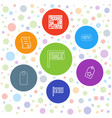 7 price icons vector image vector image