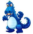 A scary blue crocodile vector image vector image