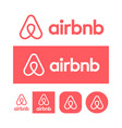 airbnb logo on white background vector image vector image