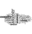 airport locksmiths text word cloud concept vector image vector image