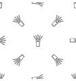 aloe pot pattern seamless vector image vector image