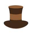 antique male hat vector image vector image
