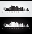 atlantic city usa skyline and landmarks vector image vector image