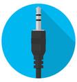 audio mini jack plug icon vector image