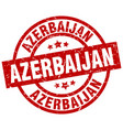 azerbaijan red round grunge stamp vector image vector image