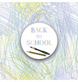 back to school background supplies frame chaotic vector image