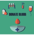 Blood donation medicine help hospital save life vector image vector image