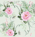 blush pink bouquets on light green background vector image