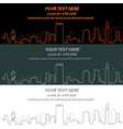 boston event banner hand drawn skyline vector image vector image