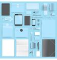 branding mockup blue retail vector image vector image