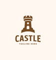 castle logo concept castle tower good to use for vector image vector image