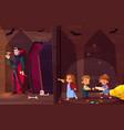 children in quest escape room cartoon vector image vector image