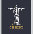christ redeemer statue vector image