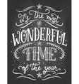 Christmas chalkboard printable vector image vector image