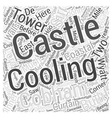 Cooling Castle Word Cloud Concept vector image vector image