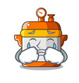 crying electric rice cooker isolated on cartoon vector image
